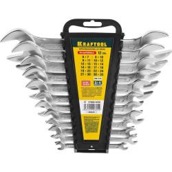 Набор рожковых гаечных ключей 12 шт, 6 - 32 мм, KRAFTOOL / 27033-H12C
